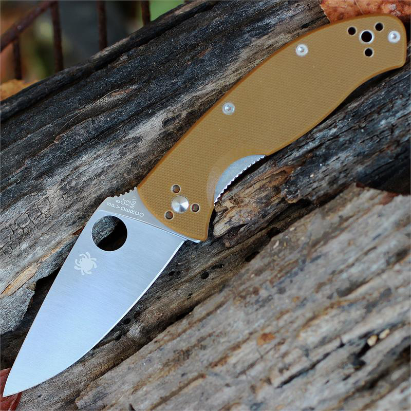 Spyderco Tenacious Brown G10 Plain